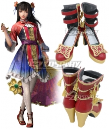 Dynasty Warriors 9 Daqiao Red Cosplay Shoes