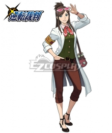 Ace Attorney Gyakuten Saiban Ema Skye Cosplay Costume