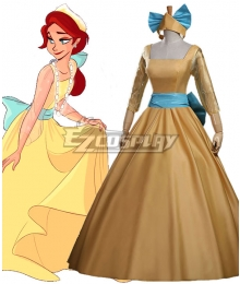 Anastasia Anastasia Princess Yellow Dress Cosplay Costume