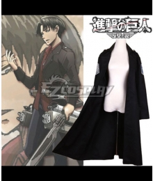 Attack on Titan Humanity in Chains Eren Yeager Mikasa Ackerman Levi Coat Cosplay Costume