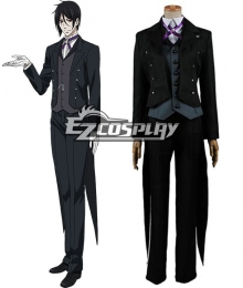 Black Butler Book of Circus Sebastian Michaelis Cosplay Costume
