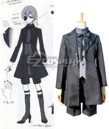 Black Butler Ciel Phantomhive Black Suit Halloween Cosplay Costume