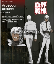 Blood Blockade Battlefront Zapp Renfro Cosplay Costume - Only Jacket