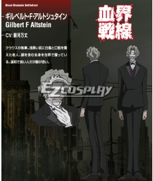 Blood Blockade Battlefront Gilbert F. Alstein Cosplay Costume