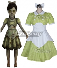 BioShock Little Sister Green Cosplay Costume