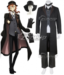 Bungou Stray Dogs Chuya Nakahara Black Cosplay Costume