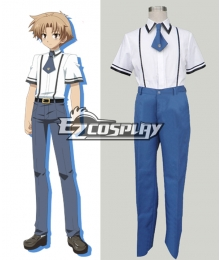 Baka to Test to Boys' Summer School Uniform Cosplay Costume