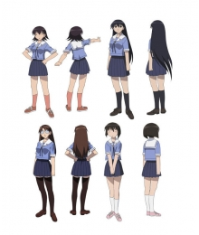 Azumanga Daioh Girl School Uniform  Blue Cosplay Costume