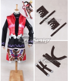 Xenoblade Chronicles Shulk Red Cosplay Costume