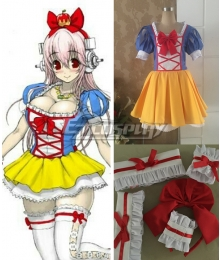 Soni-Ani Super Sonico the Animation Snow White Red Apple Cosplay Costume