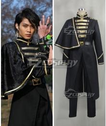 Kamen Rider Ghost Masked Rider Necrom Alain Black Cosplay Costume
