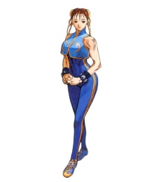 Street Fighter Chun Li Blue Cosplay Costume