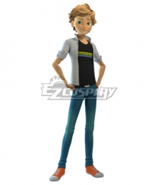 Miraculous Ladybug Adrien Cat Noir Usual Clothes Cosplay Costume