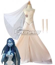 Tim Burton's Corpse Bride Emily Halloween Cosplay Costume