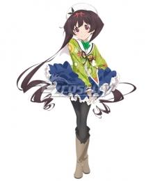 Dropout Idol Fruit Tart Ochikobore Furutsu Taruto Hemo Midori Cosplay Costume