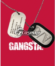 Gangsta Gyangusuta Nicolas Brown Nic Cosplay Necklace Cosplay Accessory Prop
