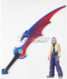 Kingdom Hearts Re Chain of Memories Riku Soul Eater Keyblade Cosplay Weapon Prop