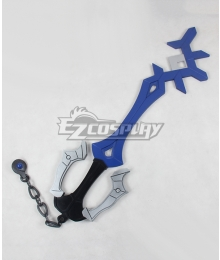 Kingdom Hearts Birth by Sleep Aqua Rainfell Keyblade Cosplay Weapon Prop