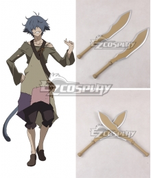 Rokka Braves of the Six Flowers Rokka no Yusha Hans Humpty Hansu Hanputi Two Swords Cosplay Weapon Prop