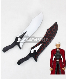 Fate Stay Night Emiya Shirou Archer Sword Cosplay Weapon Prop
