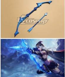 League of Legends Classic Ashe The Frost Archer Bow and arrow Cosplay Blue Weapon Prop