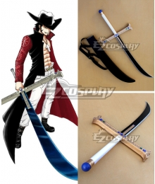 One Piece Dracule Mihawk Black Sword 130cm Cosplay Weapon Prop
