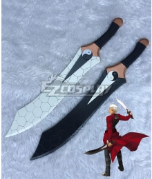 Fate Stay Night Fate Zero Archer Emiya Shirou Gan Jiang Mo Ye Two Swords Cosplay Weapon Prop