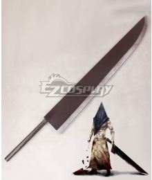 Silent Hill 2 Pyramid Head Red Pyramid Thing Sword Cosplay Weapon Prop