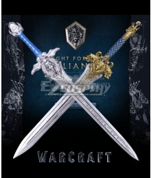 Warcraft The Beginning World of Warcraft WOW King Llane Wrynn I Lion Silver Sword Cosplay Weapon Prop