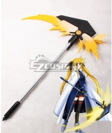 Magical Girl Lyrical Nanoha Fate Testarossa Harlaown Bardiche Scythe Cosplay Weapon Prop