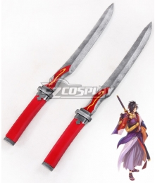 Tales of Berseria Rokurou Rangetsu Two Dagger Cosplay Weapon Prop