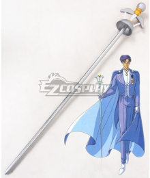 Sailor Moon Mamoru Chiba Tuxedo Mask Staves Cosplay Weapon Prop