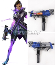 Overwatch OW Sombra ░░░░░░ Gun Cosplay Weapon Prop