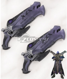 Overwatch OW Reaper Gabriel Reyes Nevermore Two Guns Cosplay Weapon Prop