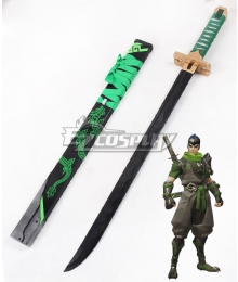 Overwatch OW Genji Shimada Sparrow Long sword Cosplay Weapon Prop