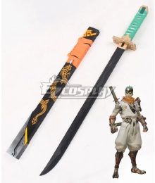 Overwatch OW Genji Shimada Young Long sword Cosplay Weapon Prop