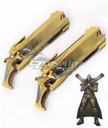 Overwatch OW Reaper Gabriel Reyes Desert Two Guns Cosplay Weapon Prop