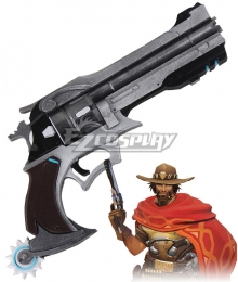 Overwatch OW Jesse McCree Gun Bullet Cosplay Weapon Prop