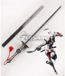 Devil Kings Sengoku Basara 4 Sumeragi Azai Nagamasa Sword Cosplay Weapon Prop