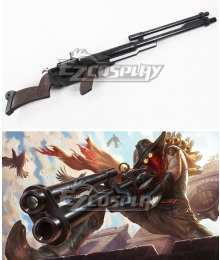 League of Legends LOL High Noon Jhin The Virtuoso Gun Cosplay Weapon Prop