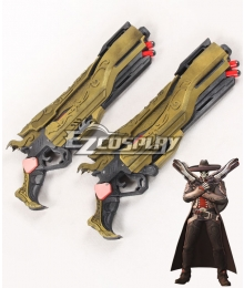 Overwatch OW Reaper Gabriel Reyes Mariachi Golden Two Guns Cosplay Weapon Prop