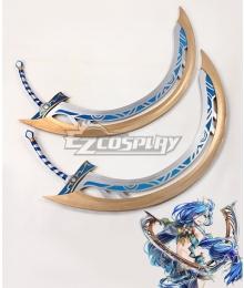 Ys VIII: Lacrimosa of Dana Dana Crescent Moon Blades Two Swords Cosplay Weapon Prop