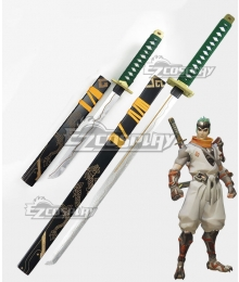 Overwatch OW Genji Shimada Young Two Swords Cosplay Weapon Prop
