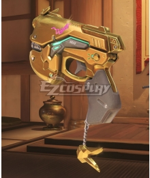 Overwatch OW D.Va DVa Hana Song Golden Gun Cosplay Weapon Prop