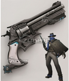 Overwatch OW Jesse McCree Mystery Man Gun Cosplay Weapon Prop