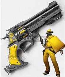Overwatch OW Jesse McCree Vigilante Gun Cosplay Weapon Prop