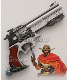 Overwatch OW Jesse McCree Peacekeeper Gun Cosplay Weapon Prop
