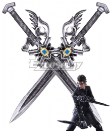 Final Fantasy XV Ignis Stupeo Scientia Double Sword Cosplay Weapon Prop