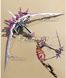 Final Fantasy XIII-2 FF13-2 Serah Farron Bow Cosplay Weapon Prop