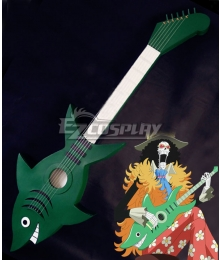 One Piece Brook Burukku Shark Guitar Cosplay Weapon Prop